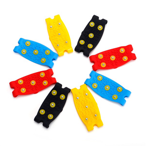 Image 5 - 1 pair 5 Stud Snow Ice claw Climbing Anti Slip Spikes Grips Crampon Cleats Shoes Cover for women men Boots Cover size 35 43