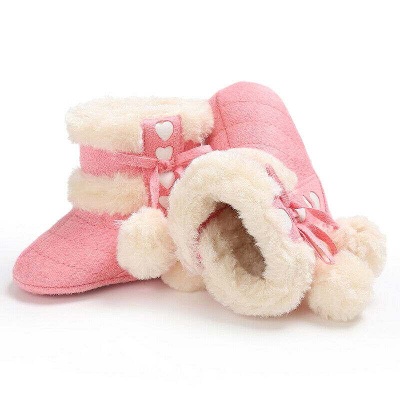 0-18M Toddler Baby Girl Shoes Soft Crib Sole Shoes Newborn Kid Babe Winter Warm Boots