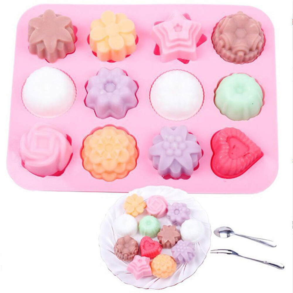 Cake Baking Mould Silicone Soap Mold 3D Chocolate Supplies Baking Pan Tray Molds Candy Making Tool DIY Home Bake Tool