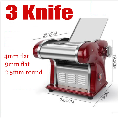 3 Knife Commercial Electric Noodle Making Pasta Maker Dough Roller Noodle Cutting Machine