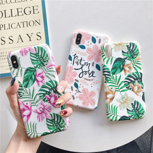 Fashion Luminous flower leaf Phone Cases For iPhone 7 8 6 6S Plus X Frosted Hard Case XS XR Max Back Cover