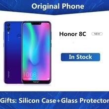 Firmware global honor 8c 6.26 polegadas, snapdragon 632 octa core 4000mah 3 cartões vezes id de rosto tela cheia celular