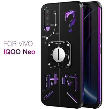 Перейти на Алиэкспресс и купить Роскошный металлический алюминиевый чехол для Vivo iQOO NEO Z5 V17 NEO Y7S S1 Helio P65, чехол для Vivo iQOO