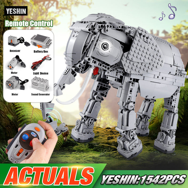 DHL Yeshin 7107 Star Plan Toys The Remote Control Elephant Set Creative Building Blocks Bricks Electric