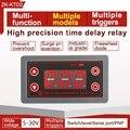 Релейный модуль с задержкой включения и выключения 5 В, 12 В, 24 В, цикл задержки триггера, 0,1 секунд (мин) до 999 минут (макс.), D16 20, Прямая поставка
