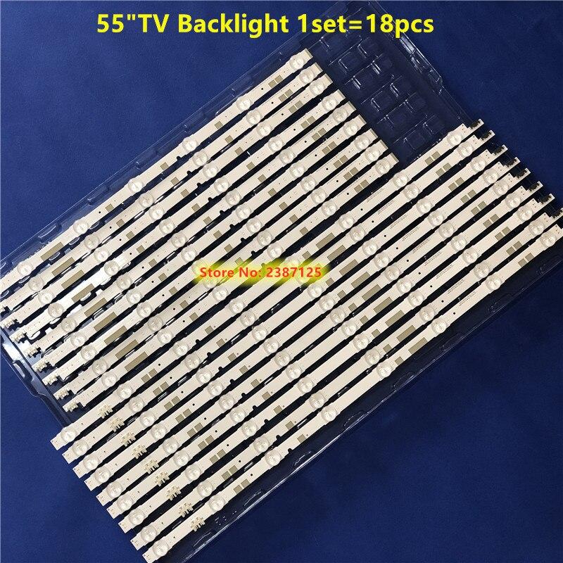 18PCS LED Backlight Strip For Sam Sung CY-TJ055HGEV2H CY-TJ055HGEV1H V5DR_550SCA_R0 V5DR_550SCB_R0 BN96-38880A BN96-38881