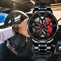 NEKTOM Mens Luxus Uhren Sport Auto Uhren Wasserdichte Sport Felge Hub Rad Armbanduhr Auto Quarz männer Uhren Bee Em vee M8