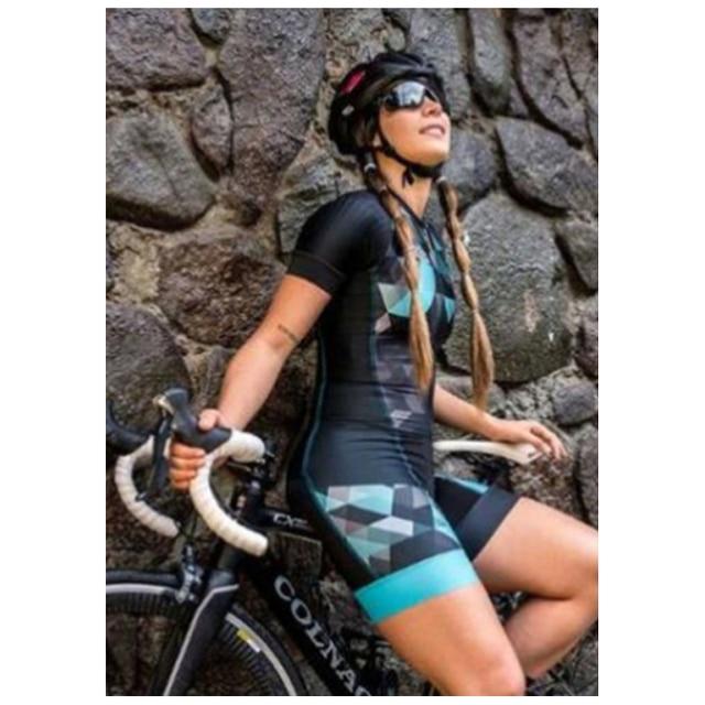 2020 pro equipe triathlon terno das mulheres ciclismo camisa skinsuit macacão maillot ciclismo ropa ciclismo conjunto de manga curta gel almofada roupas com frete gratis conjunto feminino ciclismo ciclismo feminino 4