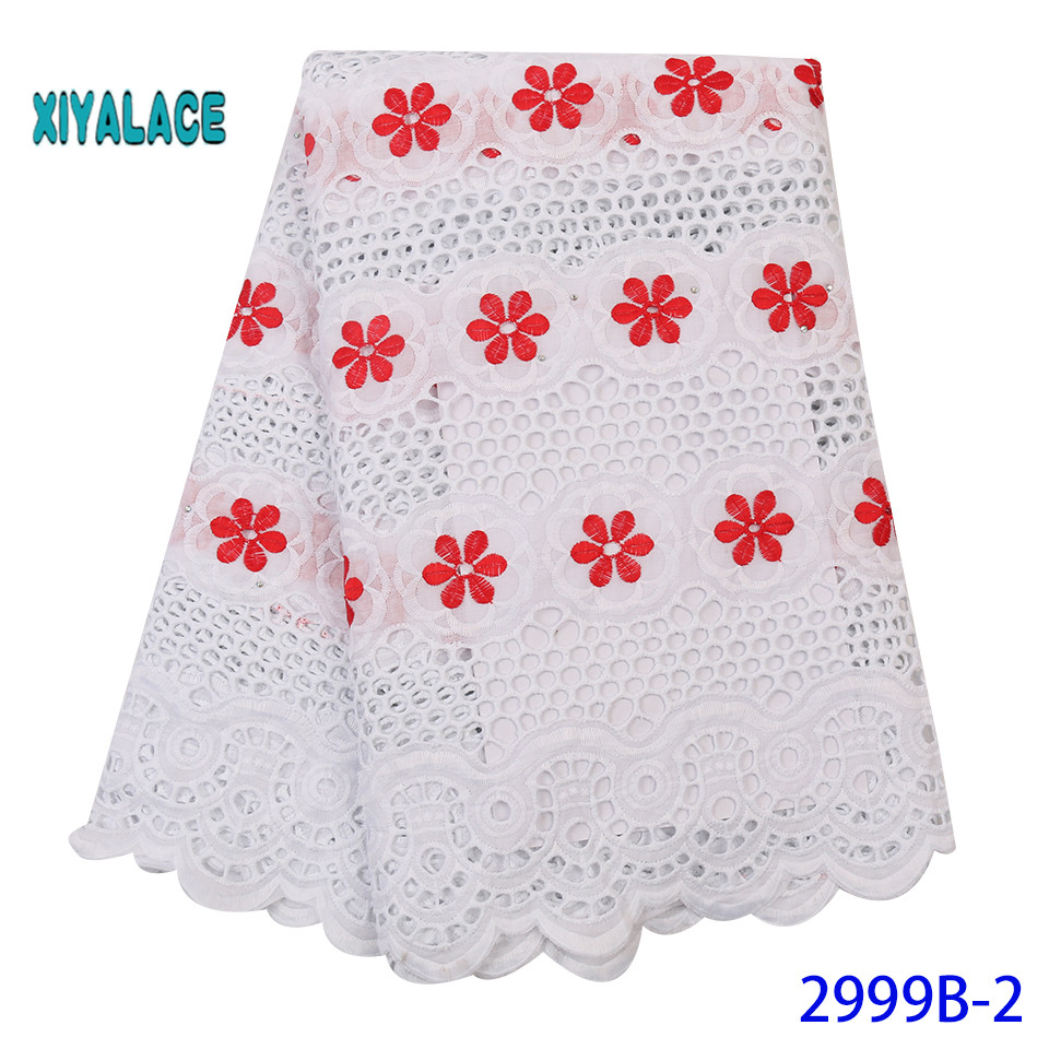 African Lace Fabric 2019 High Quality Lace French Lace Fabric Embroidery Fabric Nigerian Voile Suisse Lace Fabrics YA2999B-2