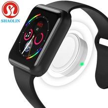 Smartwatch bağlı Bluetooth bilek Smartwatch Apple iOS iPhone Samsung Sony Huawei Xiaomi LG Android telefon (kırmızı düğme)
