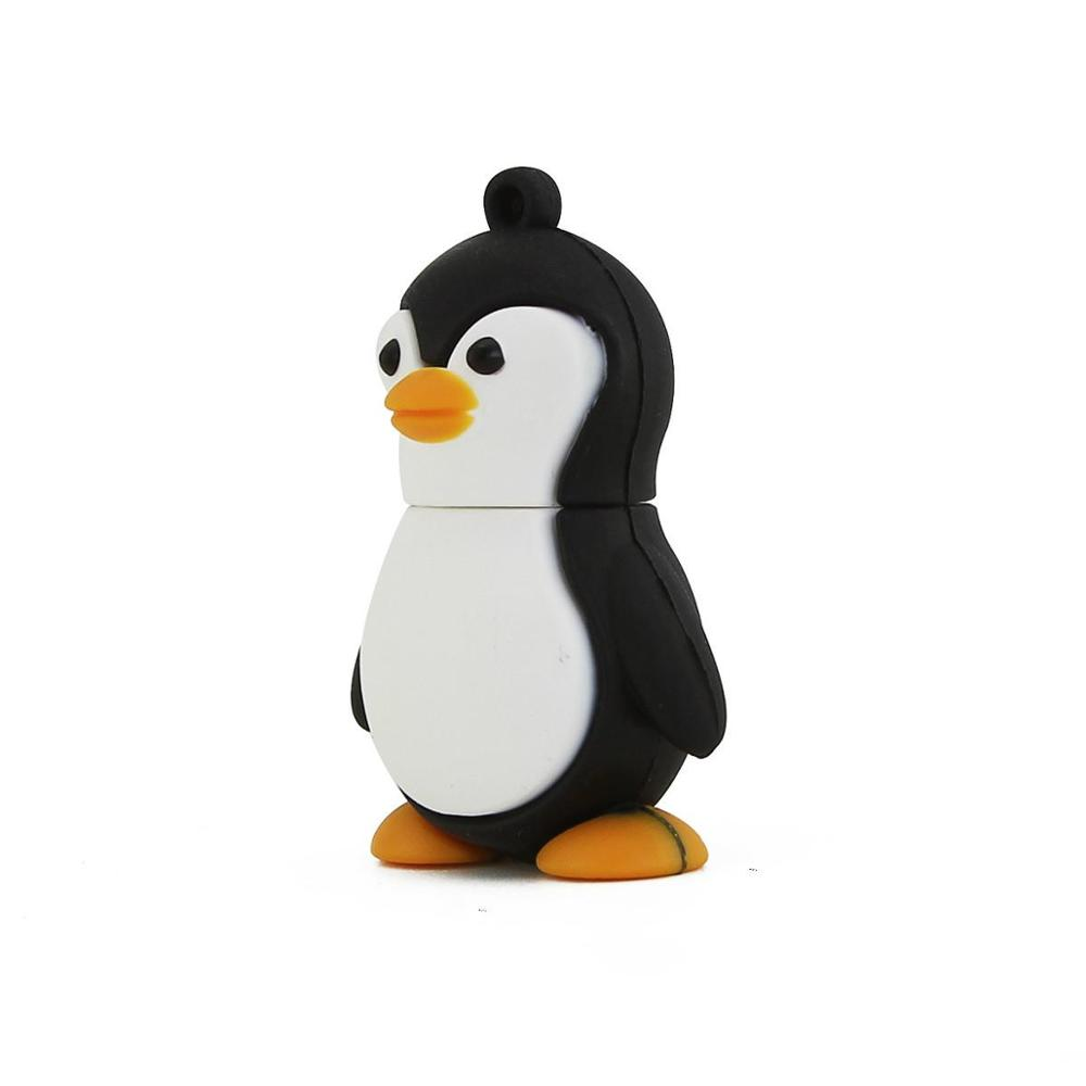 Usb Flash Pendrive 128GB Penguin Style High Quality Pen Drive 64gb Memory Stick Lovely Gift For Christmas Freeshipping