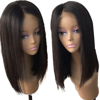 13x4 Lace Front Human Hair Wigs Brazilian Straight Short Bob Wig Pre Plucked With Baby Hair Remy Lace Wig For Black Women