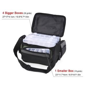 Image 4 - 방수 낚시 가방 다기능 낚시 태클 가방 물고기 도로 릴 루어 후크 스토리지 어깨 가방