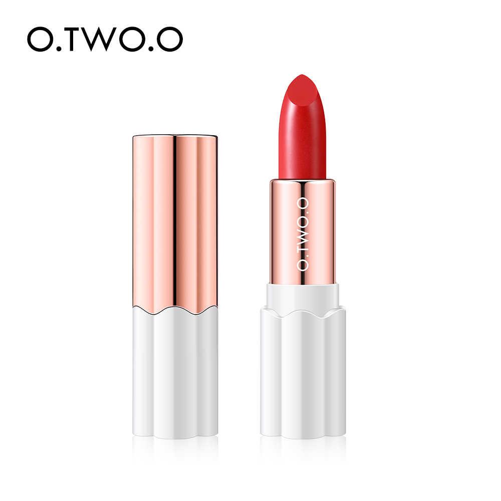 O.TWO.O Lápiz labial Semi terciopelo Color Nude rico impermeable hidratante labios ligeros de larga duración Makuep 12 colores