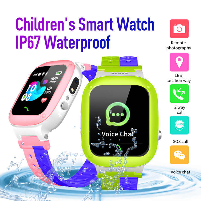Smart Uhr Wasserdichte Kinder SOS Antil-verloren Smartwatch Baby 2G SIM Karte Uhr Anruf Location Tracker Smartwatch