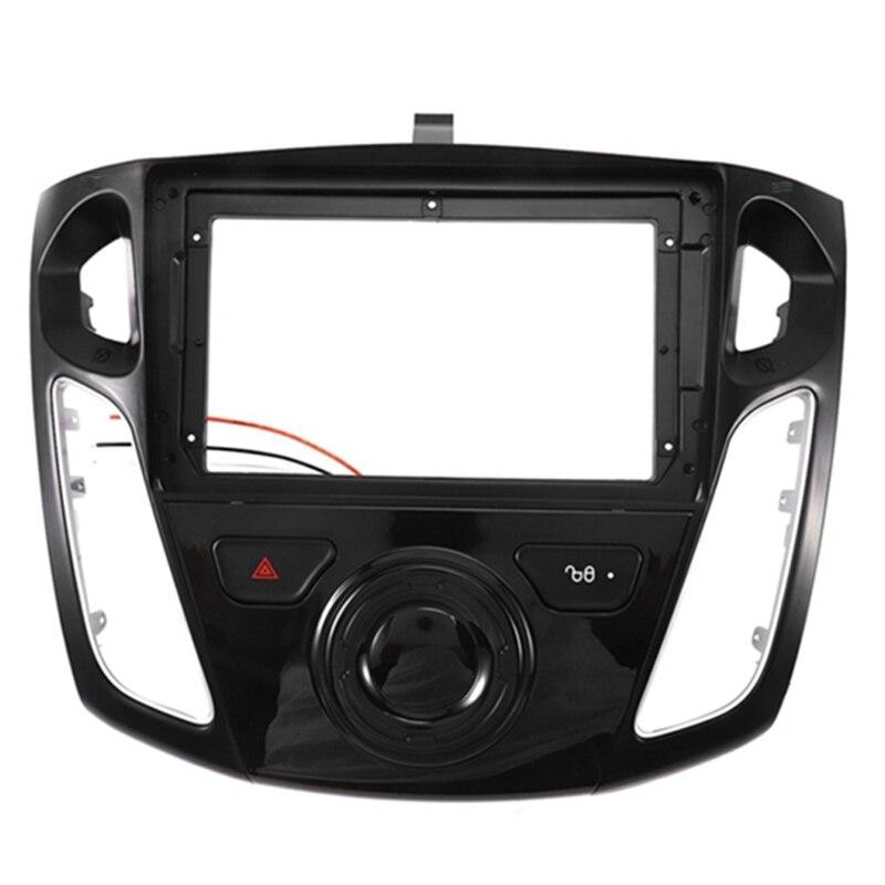 Car Radio Fascia Trim Kit, 9 Inch Dash Panel 2 DIN DVD Frame Install Kit For Ford Focus 3 2012 2013 2014 2015 2016-2018