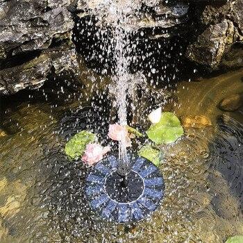 Круглый плавающий водяной насос на солнечной батарее, работающий на солнечных батареях, водяной фонтанный насос на солнечной батарее для бассейна, сада, лужайки