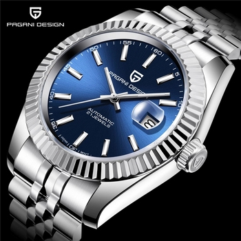 PAGANI DESIGN męski zegarek mechaniczny top marka luksusowy zegarek automatyczny sportowy wodoodporny zegarek ze stali nierdzewnej dla mężczyn tanie i dobre opinie 10Bar CN (pochodzenie) Składane bezpieczne zapięcie Antique Mechaniczna nakręcana wskazówka Samoczynny naciąg 22cm