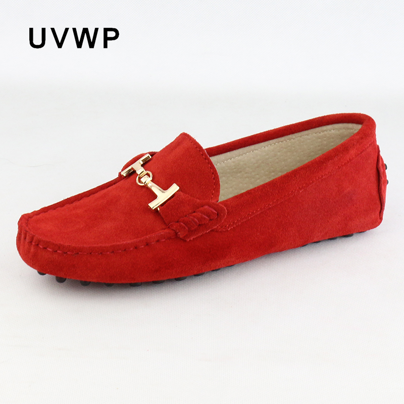 Shoes Flats Loafers Moccasins Driving Slip-On women Casual Genuine-Leather Lady Soft