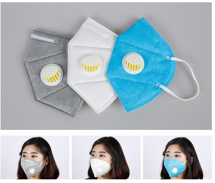 5 Pc Nail Art Anti-dust Mouth Mask Cotton Warm Dust Respirator Fashion Black Face Masks With Breath Wide Straps Washable KZ001