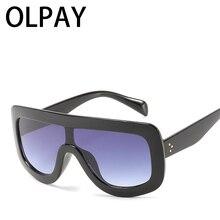 Oversized Square Sunglasses Women 2019 Luxury Brand Fashion Designer Clear Lens Sun Glasses For