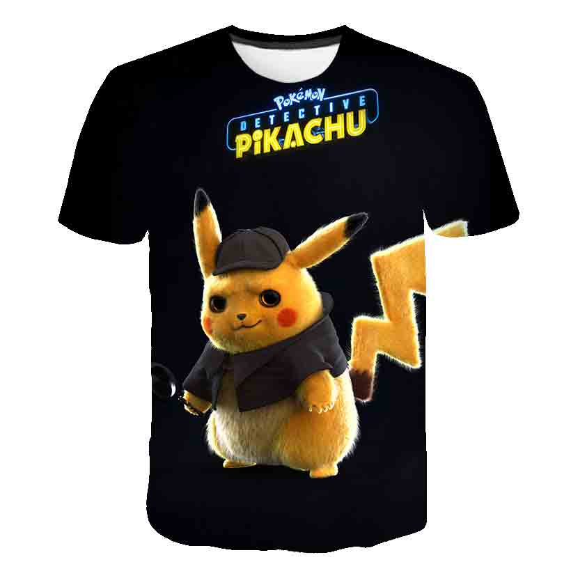 Hot Sell 3D Pikachu T-Shirt Cute Boys Clothes Movie Pokemon Baby T Shirt Girls Japan Anime Camisetas Summer Kids Clothes Tops