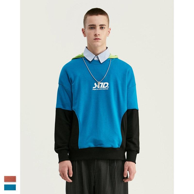 Cooo Coll Design SAD Printed Drawstring Sweatshirt Streetwear Cotton Terry Hip Hop Hoody Mens women Sweatshirts High Street