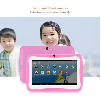 цена на 7 Inch Kids Tablet PC Android 4.4.2 Tablet 1.5GHZ Quad Core 8GB WIFI Tablet 1024x600 HD Screen Children Education Device