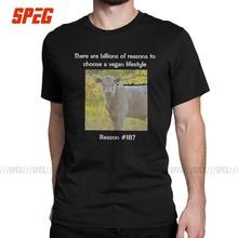 Hipster Milliarden Von Gründen Zu Wählen EIN Vegan Lifestyle T-Shirts Männer Baumwolle T Shirt Vegan Kurzarm T Kleidung Plus größe