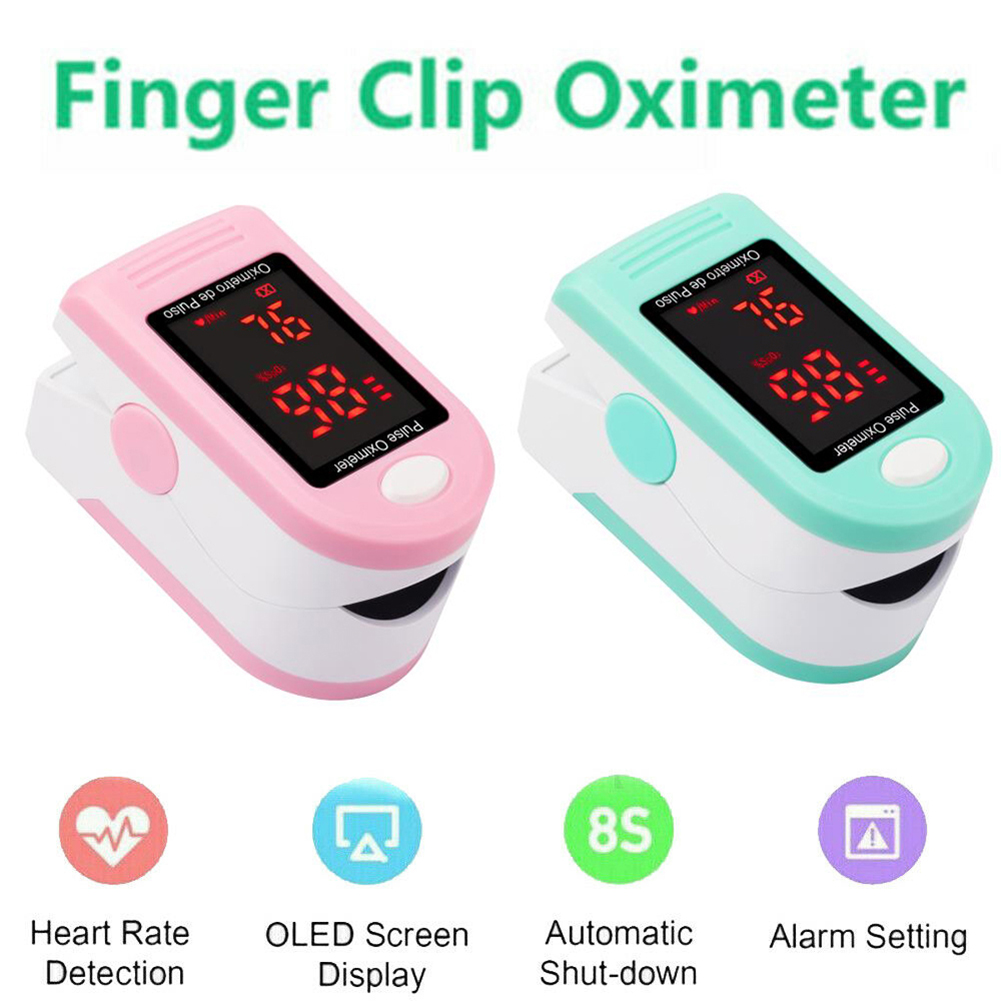 Oximeter Blood Oxygen Saturation Monitor Heart Rate Detector Health Monitors  Professional Finger Pulse