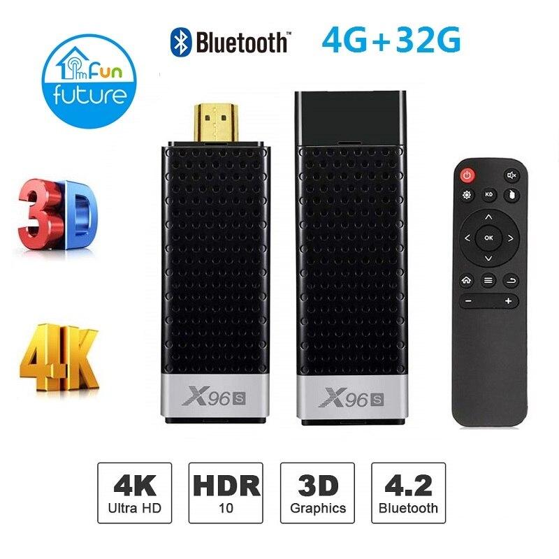 Nouveau X96S android 8.1 tv stick amlogic s905Y2 H.265 2.4/5G WIFI BT4.2 Core 64bit cortex a53 PK x96 mi TV box mi box