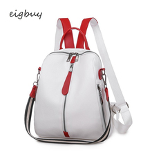 Transparent Backpack Folding Party Pu Lock Zipper Black Business Teenage Backpacks For Girls Mochilas Bookbag
