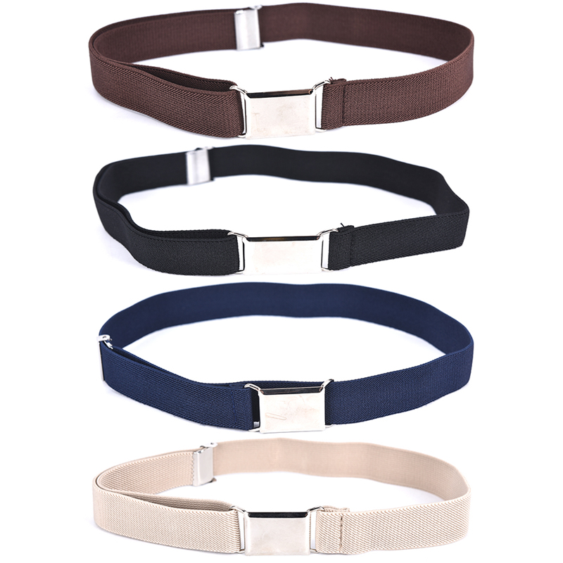1PCS Children Kids Adjustable Solid Color Unisex Canvas Belts Boys Girls Elastic Belt