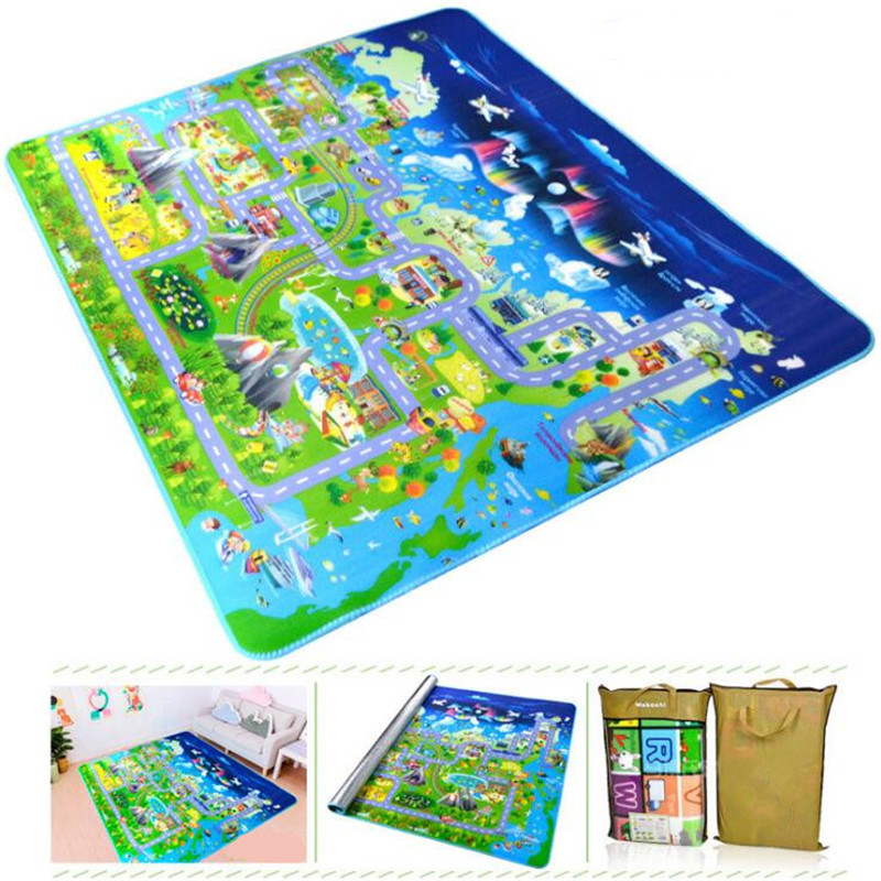 Children's Carpet Baby Play Mat Urban Road Toys For Kids Rug Puzzle Waterproof Crawling Pad Developing Playmat Picnic Blankets