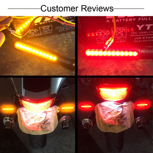 Image 2 - Universal Motorcycle Led Turn Signal Flowing Water Turn Signal & DRL Driving Lamp & Red Brake Stop Tail Light Flasher Indicators
