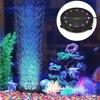 Oświetlenie Led do akwarium okrągły kształt akwarium kolorowe 110-240V wodoodporna LED powietrza lampa z efektem bąbelków dekoracja akwarium 50/60HZ