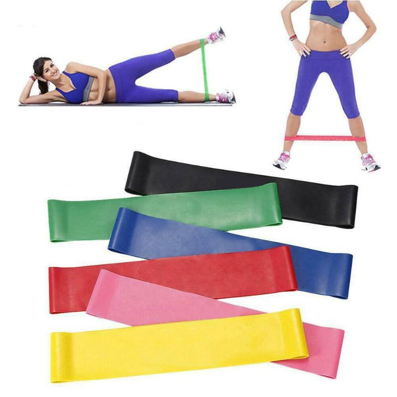 6pcs Yoga Crossfit Resistance Bands 5 Level Rubber Training Pull Rope For Sports Pilates Expander Fitness Gum Gym Workout Equipm
