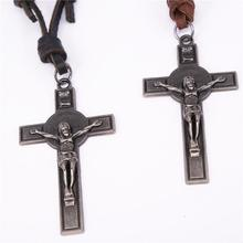 pu leather necklace religious jewelry Religious Cross Jesus  Christian Bible Inspiring Faith Bracelets  Men Personalize Gift christian and religious poems