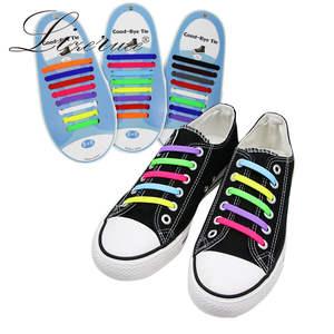 Silicone Shoelaces Elastic-Shoe Rubber Zapatillas Women 14-Colors Special for Lacing