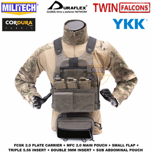 Image 2 - MILITECH TW FCSK 2.0 Advanced Slickster Mil Spec Plate Carrier With MFC 2.0 Main Pouch And Sub Abdominal Pouch Loadout Set Deal