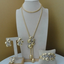 Yuminglai nova chegada elegante design especial dubai africano senhoras conjunto de jóias fhk8743
