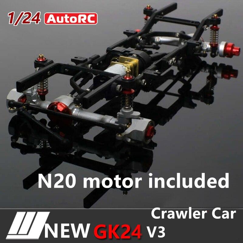 AutoRC 1/24 GK24 v3 full metal simulation climbing frame KIT Assemble Climbing RC Car Parts Version Assembled remote control car