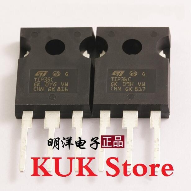 Real 100% Original NEW TIP35C TIP36C TIP35 TIP36 TO-247 10Pair = TIP35C 10PCS + TIP36C 10PCS