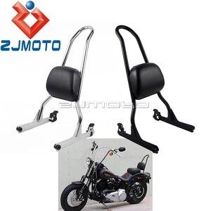 For Softail Fat Boy 2007-Up Passenger Sissy Bar Backrest Cushion For Harley Softail Night Train Standard Custom Springer 06-2015