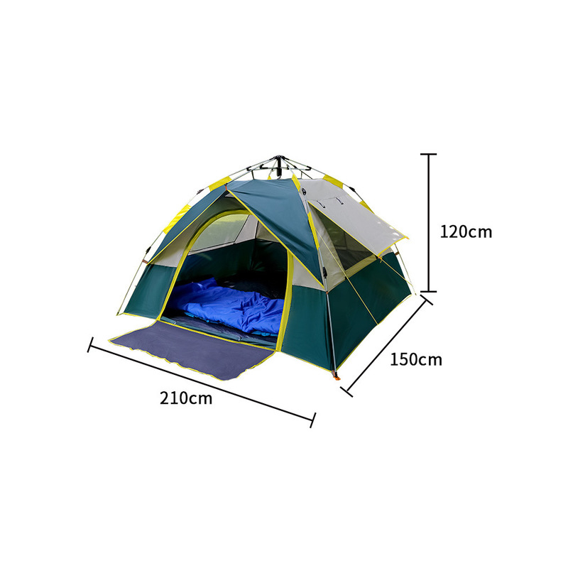 2019 new Shengyuan outdoor tent double person automatic quick opening beach tent camping holiday double layer sunscreen tent