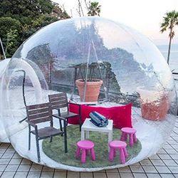 Gran oferta tienda inflable de jardín con cúpula de burbujas 3 M/4 M/5 M para Hotel de burbujas al aire libre transparente tienda iglú para Camping