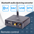 DAC декодер адаптер Bluetooth 5 0 приемник Аудио Amp u-диск плеер KTV микрофон адаптер оптический коаксиальный аналоговый конвертер
