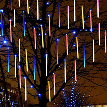 Led Meteor Shower Rain Tubes 20cm 30cm 50cm String Light For Xmas Garden Party Decoration Holiday Lighting Outdoor Waterproof стоимость