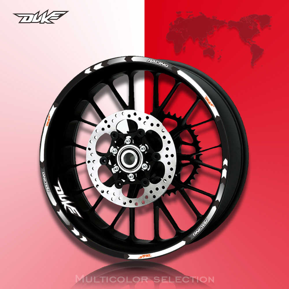 Wheel Decal Reflective Motorcycle RIM Stripe Multicolor Motor CarTape Sticker