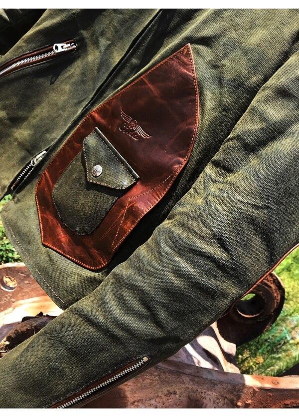 H1df1f4a912fd484fb65cbb98542ba360O Free shipping.popular mens genuine leather Jacket,Us vintage Heavy wax canvas jacket stitching cowhide.quality.thick hard